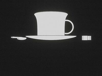 Cooooffffeeee, please! loop render animation 3d blender illustration breakfast sugar coffee cup morning coffee