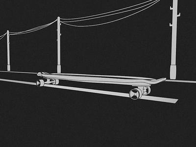 Smooth Riding street skate skateboard road longboard loop render animation 3d blender illustration