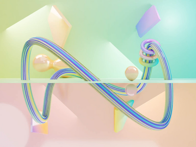 Pastel colors 💜💛💙🧡💚 aesthetic pastel color infinite scene geometry loop render animation 3d blender illustration