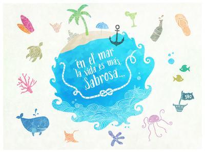 En el mar la vida es mas Sabrosa!