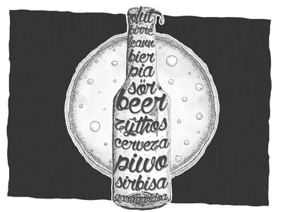 Beer, beer, beer... b&w