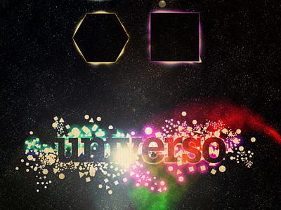 UNIVERSO design illustration handmade typography poster