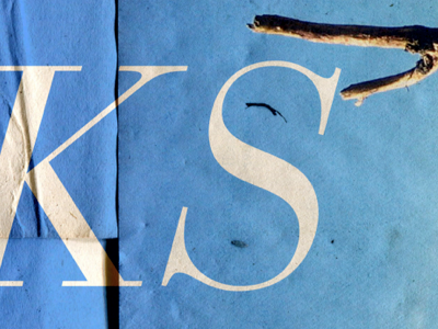 PSA for stressed creatives (3) psa poster bodoni trash textures paper blue