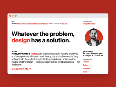 I just freshen-up my website. minimal designer online html website portfolio international style swiss style