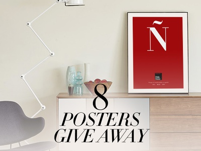 8 Posters Give Away didot simulation posters interior