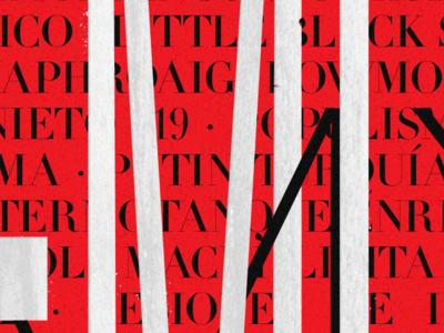In Memoriam 2015 teaser mmxv didot letterpress acumin woodtype