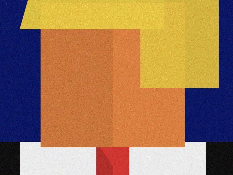 Donald tiny hands donald republican illustrator vector squares trump