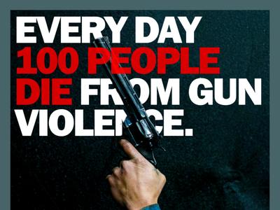 Stop gun violence. gun control typography graphic design public service psa violence guns gun