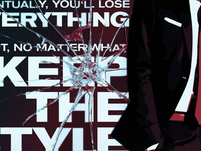KEEP THE STYLE (Poster) print art type design suit glass red blue