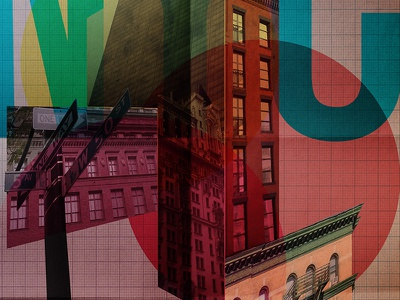 City Shapes nyc shapes typography buildings perspective