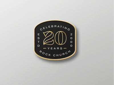 20 Year Anniversary Enamel Pin
