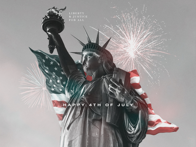 Happy 4th of July design concept concept graphic design design 4th of july collage adobe photoshop statue of liberty fourth of july photoshop