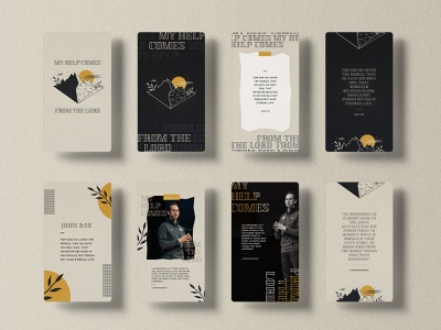 My Help Comes From The Lord - Social Templates vector art sermon series sermon art instagram template instagram stories concept art texture graphicdesign church concept design church marketing church design photoshop typography adobe photoshop