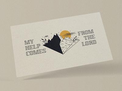 My Help Comes From The Lord - Sermon Series sermon series sermon art vector concept art texture graphicdesign church concept design church marketing church design typography photoshop adobe photoshop