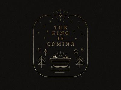 The King Is Coming christmas vector art vector adobe illustrator social media design church design concept design graphicdesign illustration texture typography photoshop adobe photoshop