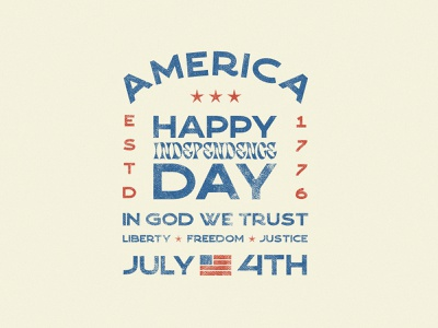 Happy Independence Day - Logo Badges vintage grungy texture red white and blue independence day fourth of july graphicdesign design illustration logo typography photoshop adobe photoshop