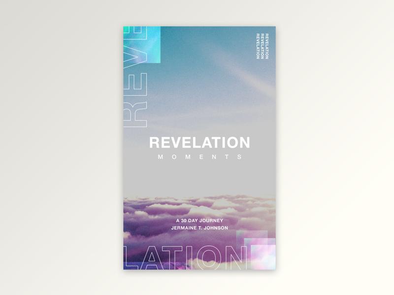 Revelation Moments churchdesign christianmarketing ebook sanserif typography photoshop