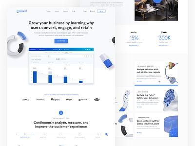 Mixpanel Homepage 3d art branding brand wed design web illustration