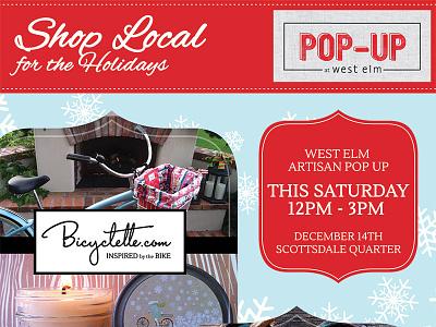 Flyer for West Elm Pop-Up Shop