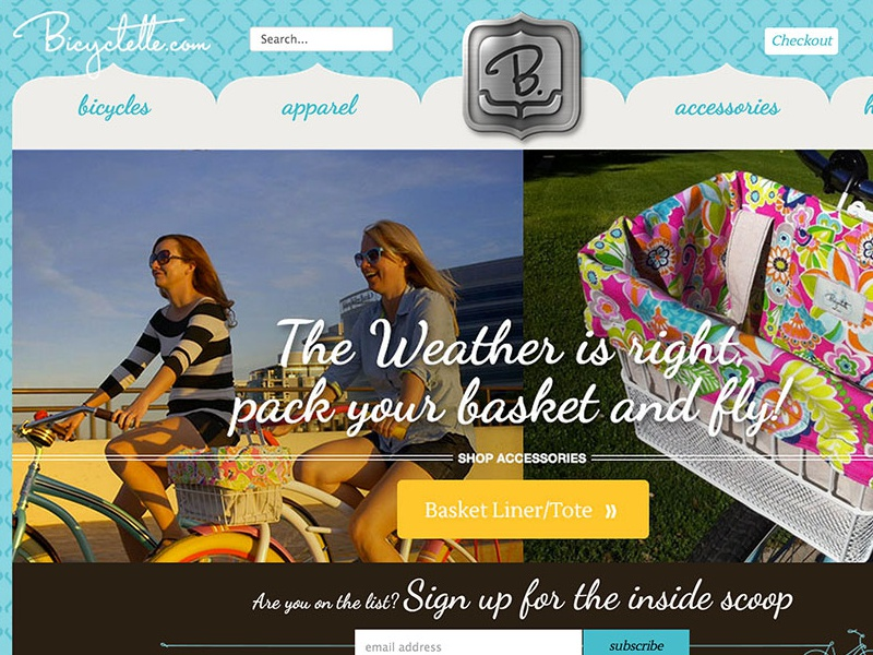 Bicyclette.com Home Page & Banners