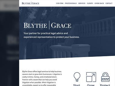 Blythe Grace Marketing Site marketing webdesign copy branding