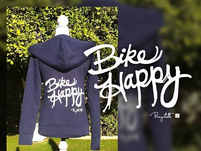 Bicyclette Bike Happy Hoodie apparel marketing product