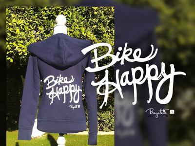 Bicyclette Bike Happy Hoodie