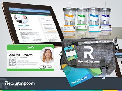 Recruiting.com - Employee Brand Swag brand employee branding business cards