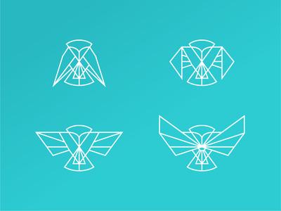 Service Tier Icons tiers set customer success csm vector minimal line illustration icon drawing clean design brand bird owl animal