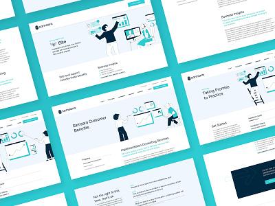 Customer Success Pages branding minimal illustration tiers programs csm customer success website web design web ux ui typography site marketing layout landing page design clean brand