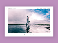 Photographer website concept