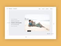 Photographer portfolio page