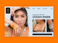Jewelry shop landing page concept