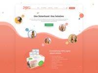 Organic product landing page