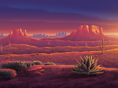 Santa Fe stars warm western camping twilight sunset cactus desert arizona new mexico santa fe