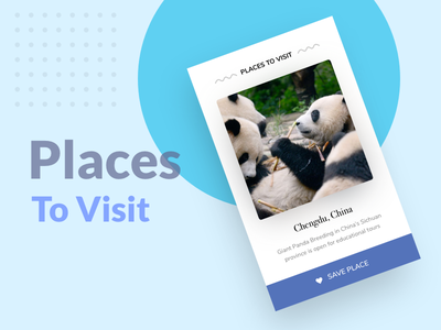 Places to visit - Mobile app swipe app landing places ios