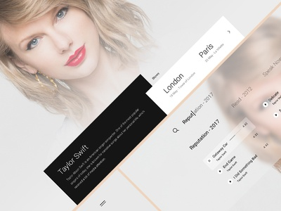 Taylor Swift Site Concept
