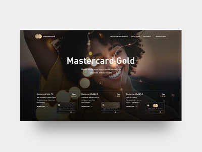 MasterCard | Gold | Interface | Concept | Design