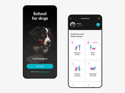 School for Dogs APP | Start |  Trainings