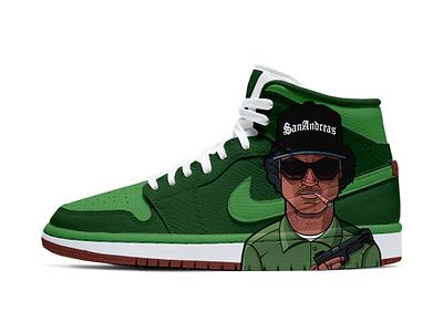 GTA San Andreas - NIKE gta sneakers nike fanart art character design