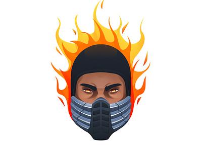 Mortal Kombat - Scorpion scorpion hero gradient mortalkombat art illustrator design vector character illustration
