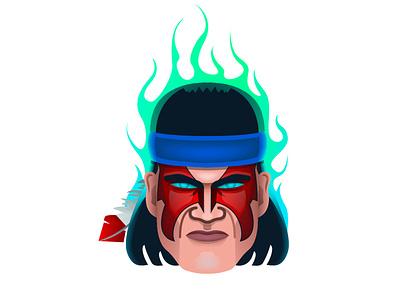 Mortal Kombat - Nightwolf vector illustration mortalkombat 2d 2d character fight faces fanart game hero illustrator art vector character design illustration