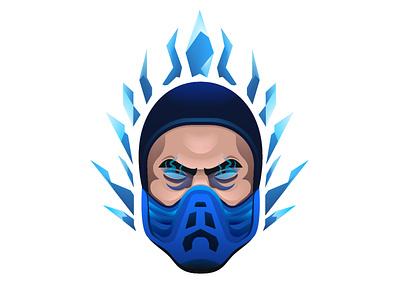 Mortal Kombat - Sub Zero game vector illustration characterdesign mortalkombat subzero gradient vector hero fanart art design character illustration illustrator
