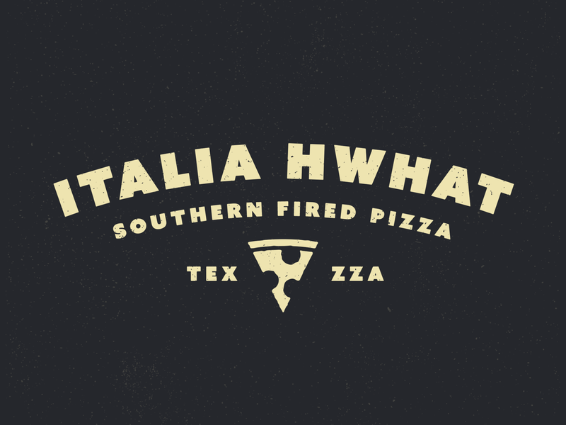 Italia Hwhat typogaphy branding pizza