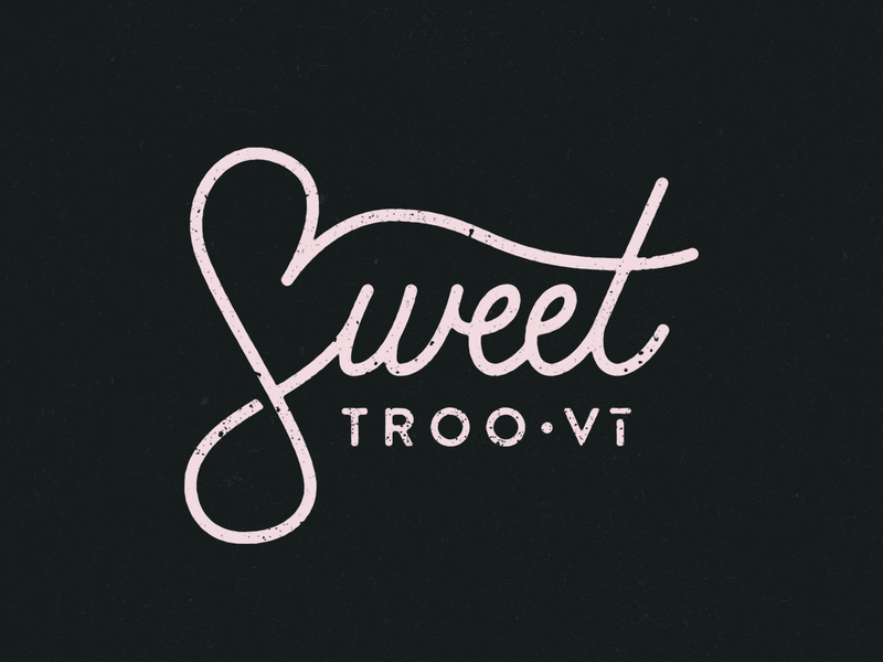 Sweet Troo • Vi branding typography