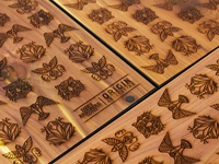 Wooden notebook covers