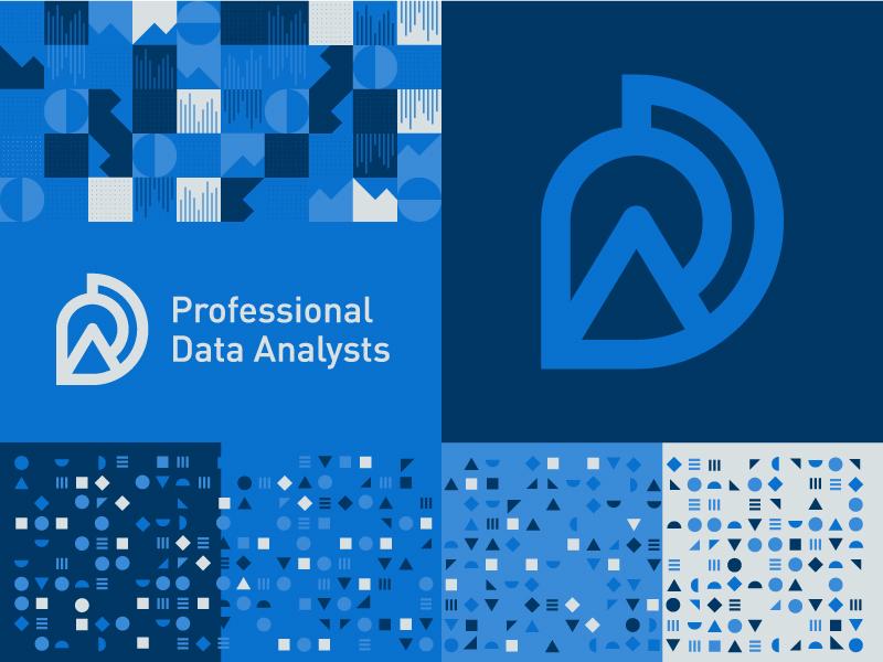 PDA Identity identity pattern data logo