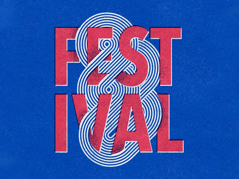 Festival 2020 logo line typography festival