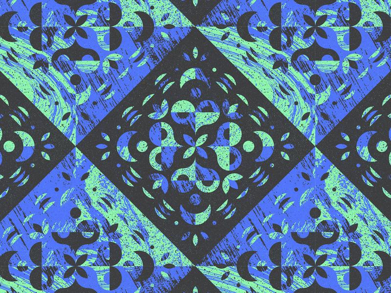 Flora illustration texture pattern