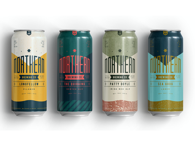 Northern Brewing 1 texture brewery packaging can beer identity